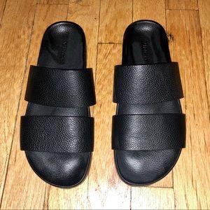 Vince Black Leather Sandals